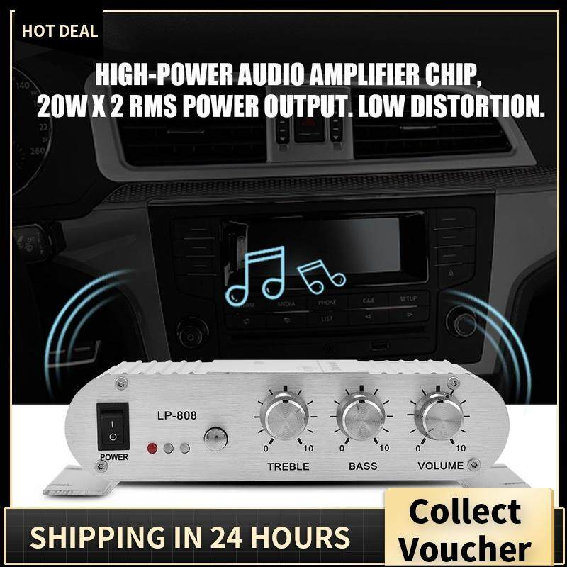 Mini 20 W 2 Channel Stereo Bass HIFI Auto Mobil Home Audio Penguat Daya  Panjang Selutut