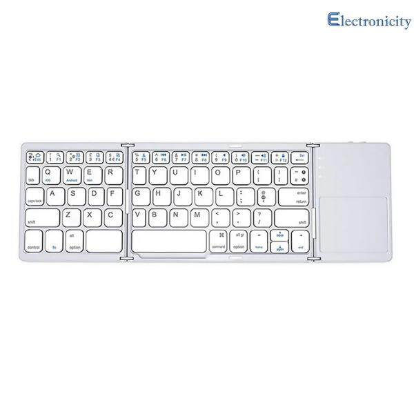 Multifunction Ultra-Slim Bluetooth Keyboard - Wireless Mini Tri-fold Keyboard with Touchpad Singapore