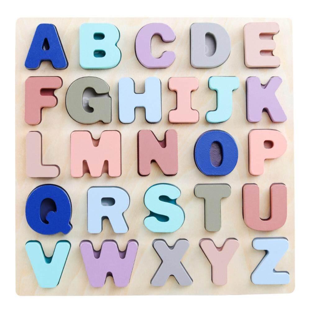 Se เด็กมือจับ 3d ของเล่นไม้ปริศนาตัวอักษรเกมกระดานฝึกทักษะการคิด By Saide Trade.