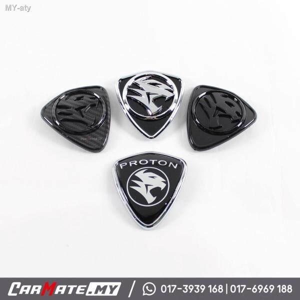 MEDIUM New Proton 3D Logo Emblem Waja MMC Saga BLM FLX Persona Satria Neo Perdana V6 Iswara LMST Badge Hitam Black