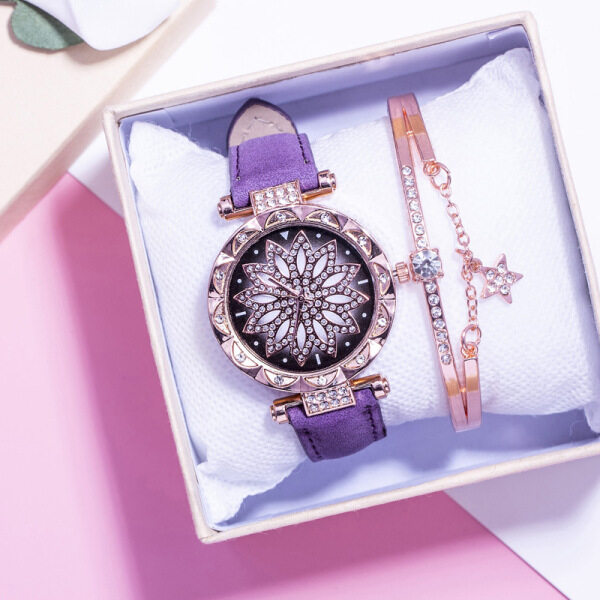 Watch for Women Watch for Girl Transfer Table Comes To Work Watch Women Waterproof 2020 Fashion Trend Rotating Womens Net Red Quartz Watch Leisure PP Malaysia