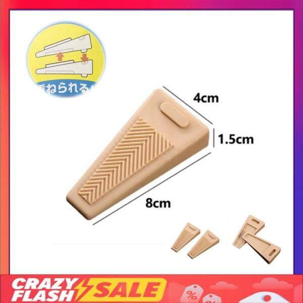 2 PCS Heavy Duty Stackable Indoor Wedge-Shaped Door Stopper Rubber Adjustable Height