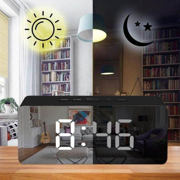 Nơi bán Loviver 3 Miếng LED Nhân Đôi Đồng Hồ Báo Thức Kỹ Thuật Số Wake Up Đồng Hồ Trang Trí Nội Thất Quà Tặng