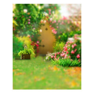 K3938 Green Backgrounds Photography Park Lawn Grass Flowers Photographic Backdrop Photocall Photo Studio thumbnail