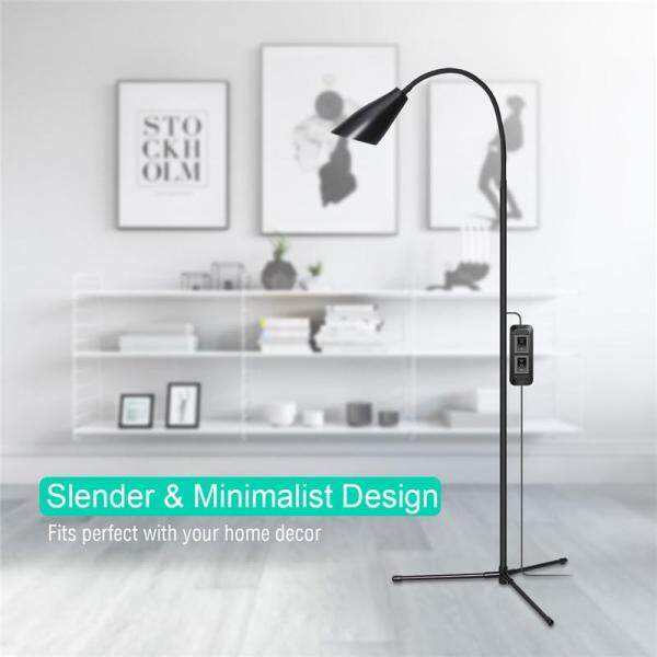 【Free Shipping + Flash Deal】 Modern 1-7W Adjustable LED Floor Lamp Multi-function Standing Light 900LM Flexible Gooseneck USB Reading Home Dimmable Desk Table Light