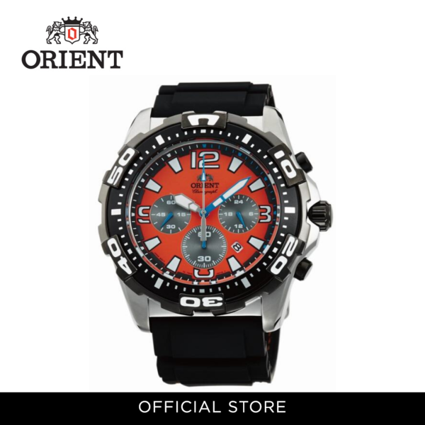 Orient Men Watch Quartz Chronograph Black Rubber Strap Watch ORFTW05005M Malaysia