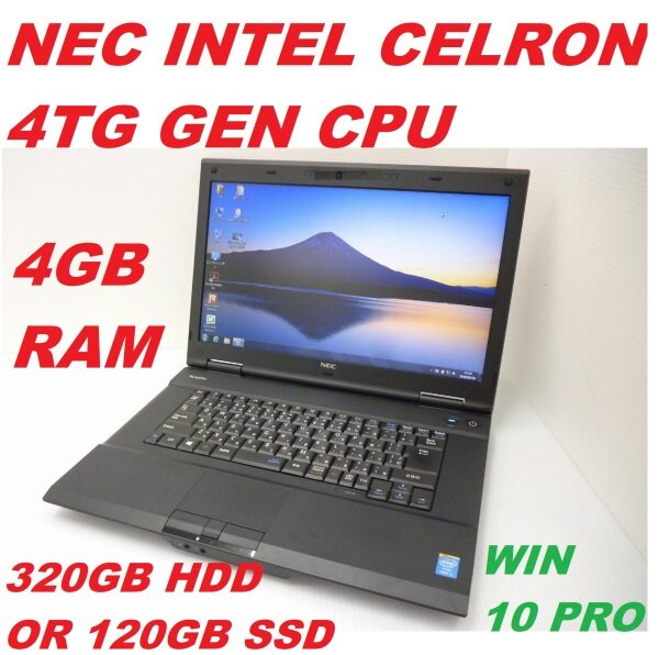 NEC VK20EA-M [ INTEL CELRON 2950M 4TG GEN CPU/ 4GB DDR3 RAM/ 320GB HDD OR 120GB SSD/15.6 LED SCREEN / INTEL HD GRAPHIC/BUILT IN WEB CAM/WIFI/WIN 10 PRO  ENGLISH & JAPNES KEYBOARD( REFURBISHED)  FREE BAG AND MOUSE Malaysia