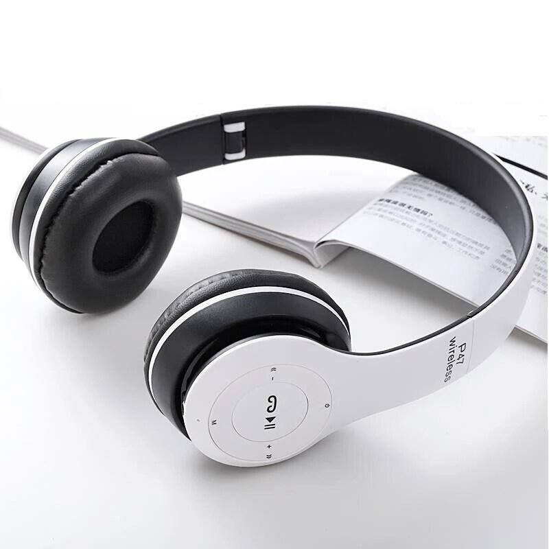 Tai Nghe Không Dây Bormelun P47, Tai Nghe Bluetooth Khử Tiếng Ồn Tai Nghe Chơi Game Âm Trầm Hifi Có Thể Gập Lại Với Mic, Hỗ Trợ Thẻ TF