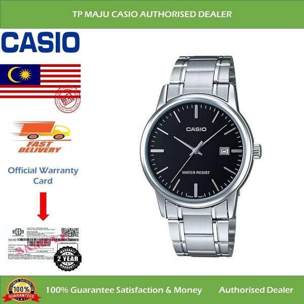 [PRE-ORDER] CASIO MTP-V002D Analog Men's Casual Formal Luxury Watch Water Resistant Black Dial with Date Display & Stainless Steel Band for Men - MTP-V002D-1AUDF ( Official 2 Years Warranty ) Courier in 7 days (ETA: 2021-09-24) Malaysia