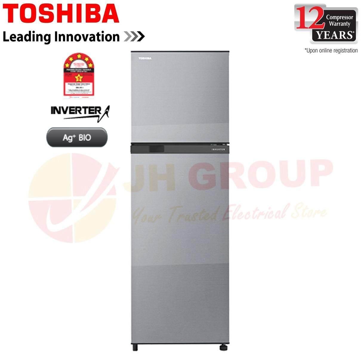(2019 NEW) TOSHIBA GR-B31MU(SS) 273L INVERTER 2 DOOR REFRIGERATOR FRIDGE PETI AIS PETI SEJUK