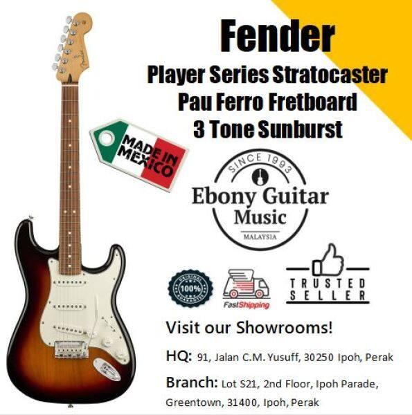 Fender Player Series Stratocaster, Pau Ferro Fretboard, 3 Tone Sunburst Malaysia