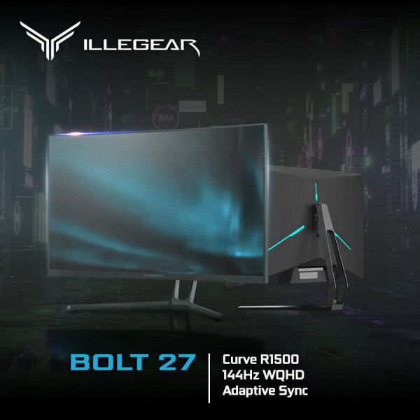 ILLEGEAR BOLT 27 (27 QHD, 144Hz HDR, 3 Year Carry-in Warranty & Lifetime Technical Support) Malaysia