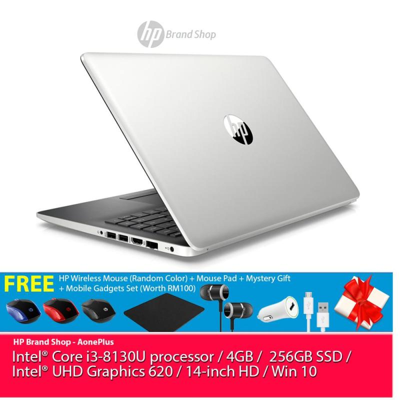 [Exclusive] HP 14-ck0124TU Notebook 5NZ76PA Natural Silver /i3-8130U/ 4GB/ 256GB/ 14-Inch/ Win10+Free HP Wireless Mouse + Mouse Pad + Mystery Gift + Mobile Gadgets Set +32GB USB Drive Malaysia