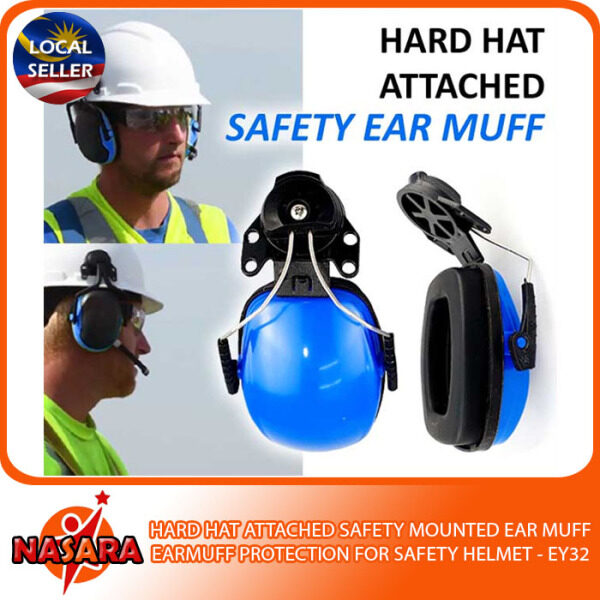 NASARA - HARD HAT ATTACHED SAFETY MOUNTED EAR MUFF PROTECTION FOR SAFETY HELMET