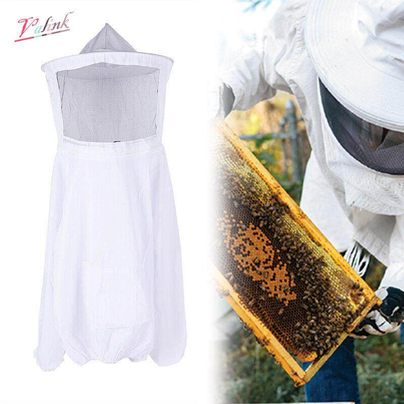 Valink Beekeeping Suit Jacket Pull Over Smock with Mesh Mask for Bee Keeper