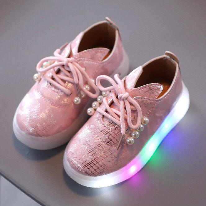 Giày Em Bé, Giày Thể Thao Phát Sáng Có Đèn LED Cho Trẻ Em Bé Gái Công Chúa Giày giá rẻ