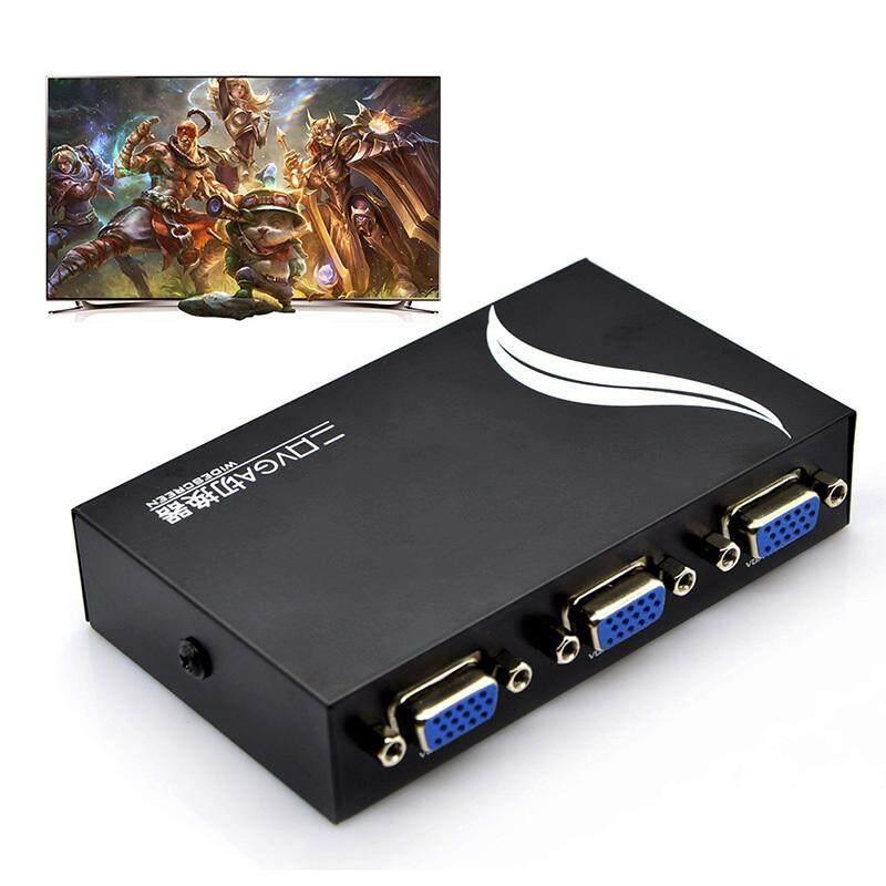 Giá 15HDF 2 Cổng 2 Trong 1 Ra Switcher Nút Chọn Hộp 2 Chiều VGA Video Switch Cho Máy Tính Xách Tay, Máy Tính Để Bàn màn Hình Tivi