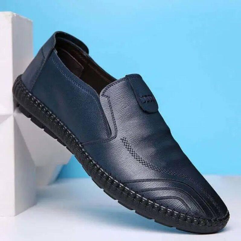 Giày da nhỏ cho nam, giày lười một chân, đế mềm, chống nước, đi làm, nhà bếp, tao Mi giá rẻ