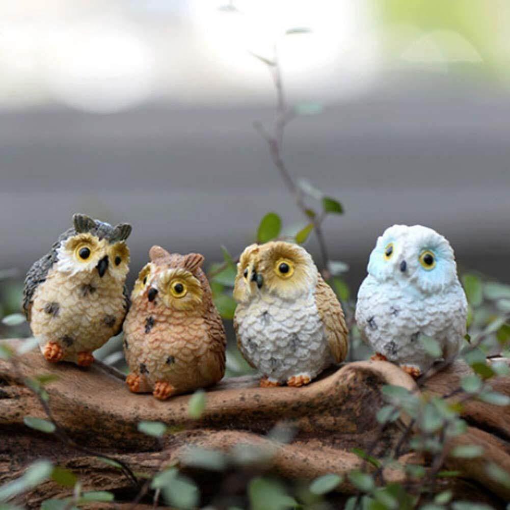 Miniature Owls Garden Bonsai Craft Terrarium Figurine Landscape Decor