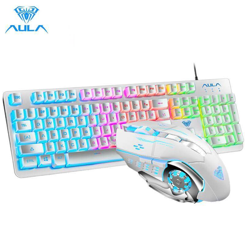 AULA F2212 Gaming keyboard and S20 Gaming mouse combo Colorful Backlit Singapore