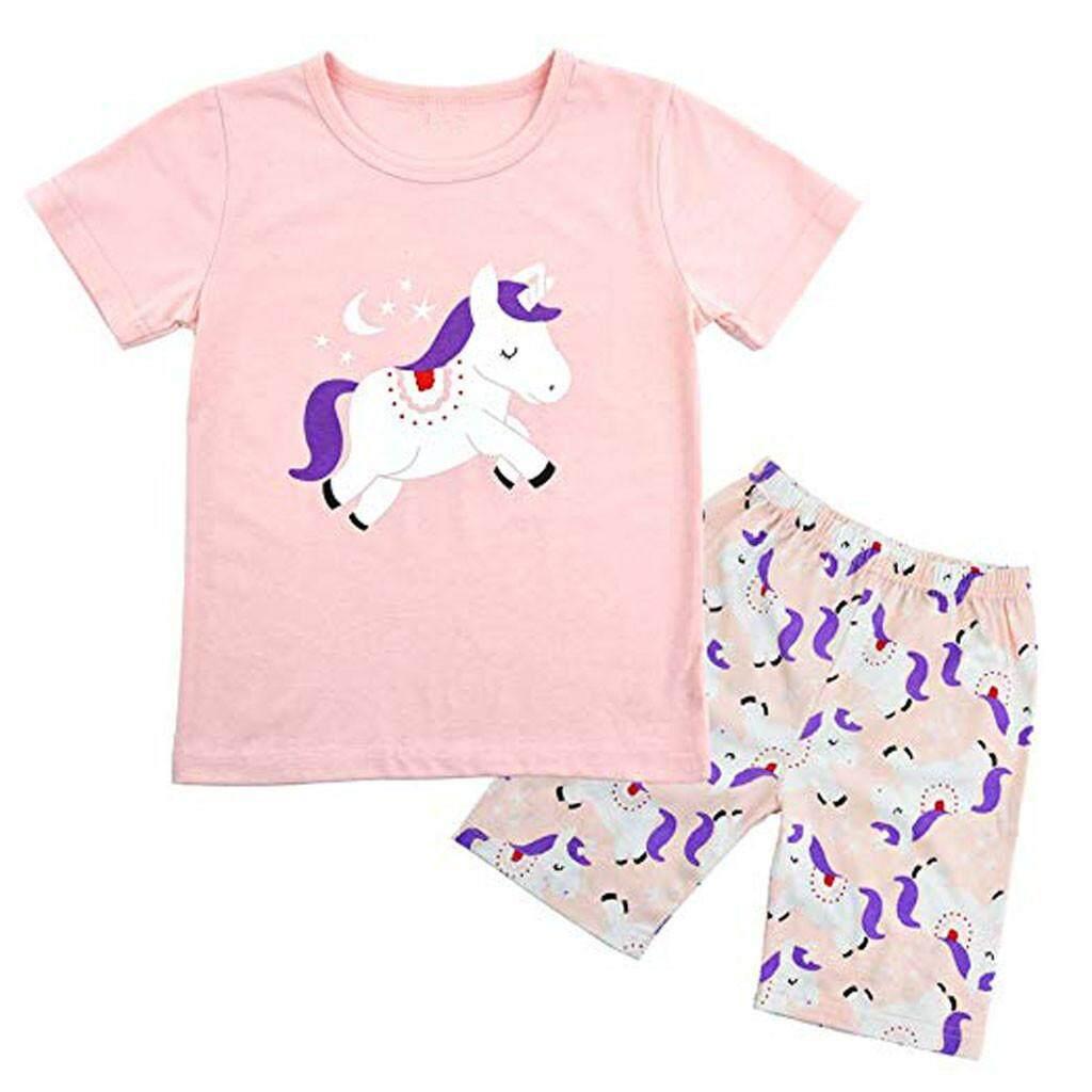 81d95f93 Lazadacarell Kids Baby Boy Girls Pajamas Cartoon Printed Tops Pants Outfits  Set