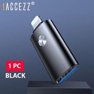 ACCEZZ Bộ Chuyển Đổi USB OTG Đầu Nối Bàn Phím Máy Tính Xách Tay Cho iPhone 11 Pro Max X XS Max 7 8 Bộ Chuyển Đổi Chiếu Sáng Sang USB 3.0 Máy Ảnh Máy Tính Bảng Dành Cho IOS 13 thumbnail