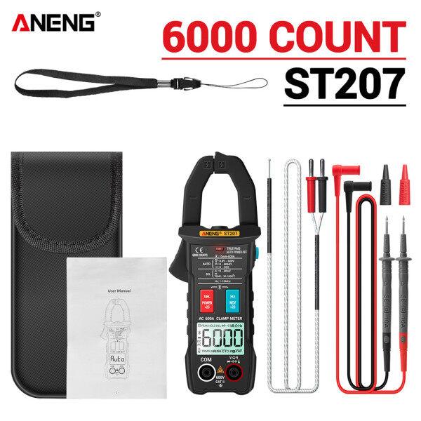 Đồng Hồ Kẹp Vạn Năng Bluetooth Kỹ Thuật Số ANENG ST207, Máy Đo Điện Áp Thật RMS DC/AC 6000 Đếm Điện Áp AC Hiện Tại Hz Điện Dung Ohm