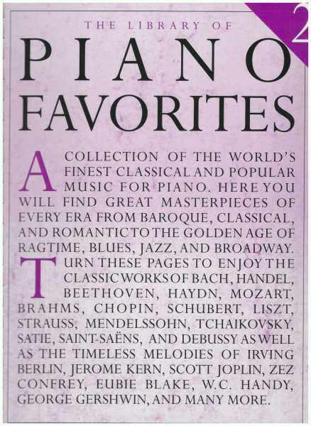 The Library Of Piano Favorites 2 / Piano Book / Music Book / Classical Piano Book Malaysia