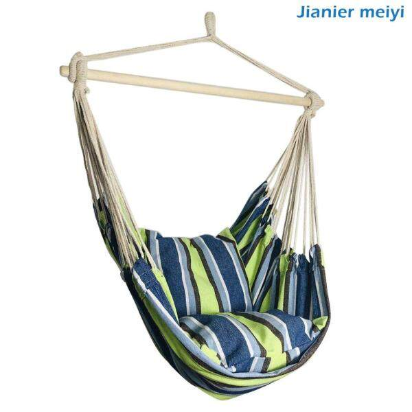 Portable Travel Hanging Hammock Bedroom Swing Bed Lazy Chair with 2 Pillows