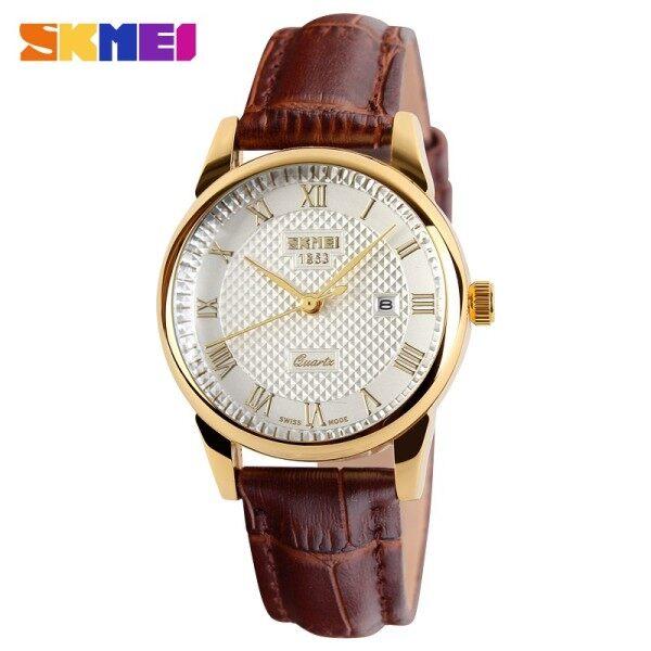 Skmei Fashion Womens Business Analogue Original Leather Strap Calendar Watches Malaysia
