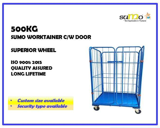 SUMO Heavy Duty High Quality Work Tainer with Door Roll Cage Roll Container Logistics Trolley