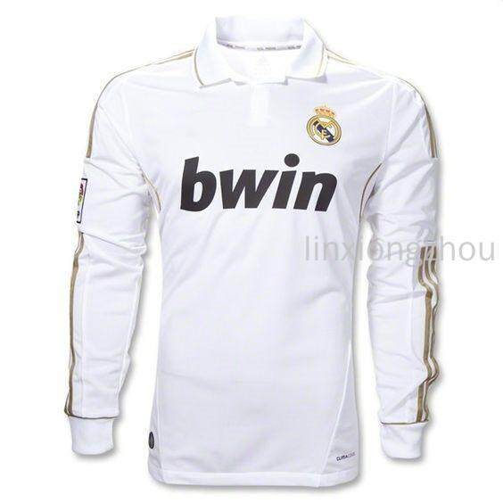 a382ecc24 High Quality 2011-12 Real Madrid Long Sleeve Retro Football Jersey