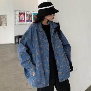 TOPHATER Áo khoác nữ dáng rộng cho màu xuân thu, phong cách Hồng Kông cổ điển - INTL thumbnail