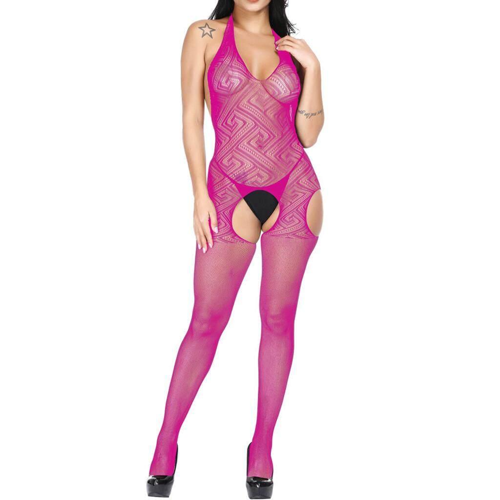974d5aeef7 Women Sexy Jumpsuit Silk stockings Clubwear Tight Uniform Temptation