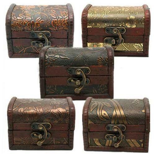 Hộp Gỗ đựng trang sức , phong cách cổ điển, in hoa văn độc đáo - INTL