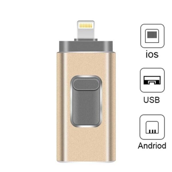Bảng giá USB Flash Drive iPhone 3 Trong 1 Lightning OTG USB 3.0 Pendrive 32GB Thẻ Nhớ Tương Thích Apple iPad PC Phong Vũ