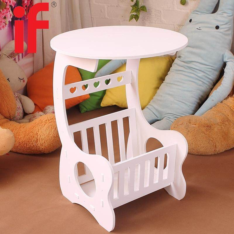 If Frenchi Magazine Round End Side Table White By If Home.