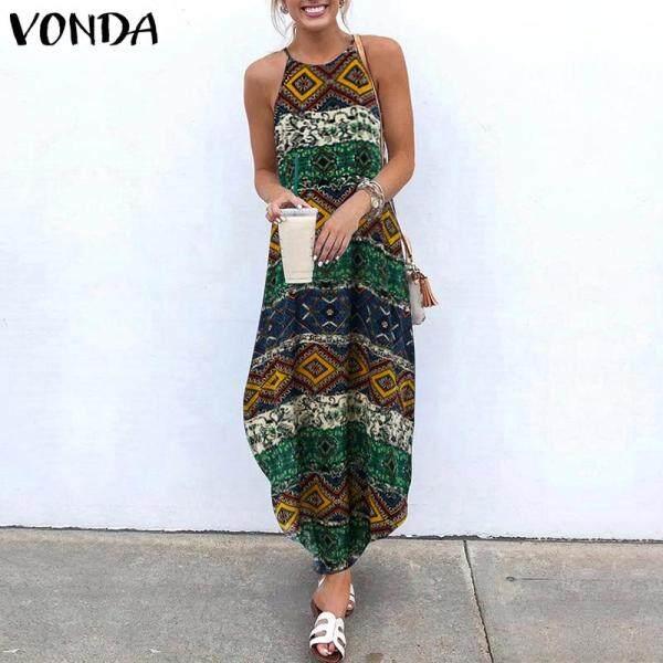 Nơi bán VONDA Áo Choàng Thường Ngày Dáng Rộng Không Đối Xứng Hoa Cổ Điển Sans Manche Imprimé Dresse