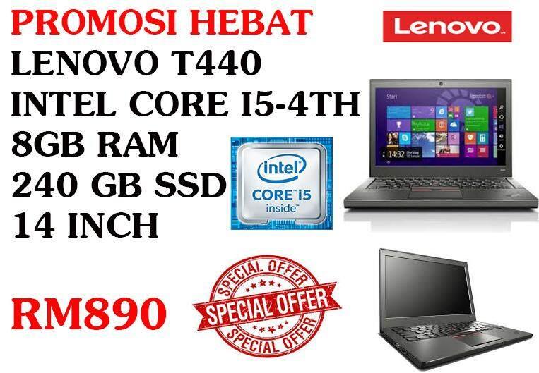 LENOVO T440 INTEL CORE I5-4300u 8GB RAM 240 GB SSD 14 INCH Malaysia