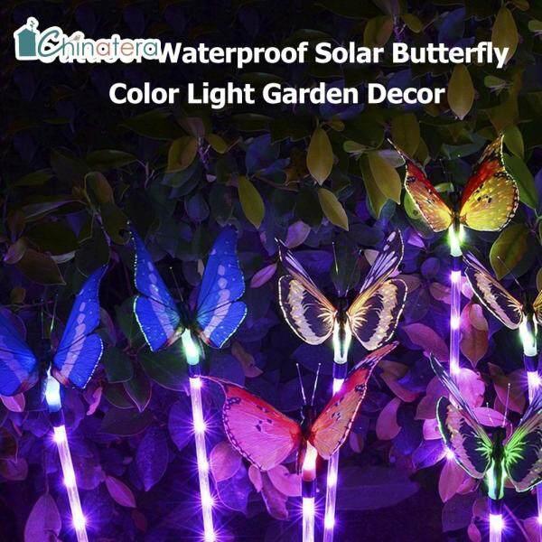 [Chinatera] 3 Chiếc Đèn LED Sân Vườn Bướm Nhiều Màu Đèn Năng Lượng Mặt Trời 7 Đèn Trang Trí Ngoài Trời Không Thấm Nước Thay Đổi Màu Sắc Cho Cảnh Quan Sân Đường