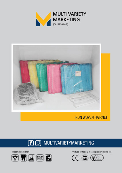 MVM - Mobcap Hairnet Non Woven Disposable 100PCS/PKT Helps prevent contamination of hairs in work areas 2153cm  Application Hospital industrial dental  Food Processing Manufacturing Various Colour available Local seller Ready Stock