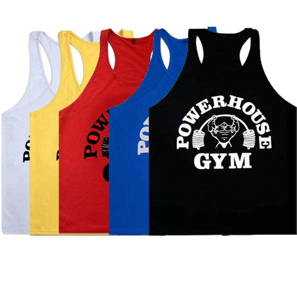 Men Gym Sleeveless Shirt Bodybuilding Sport Fitness Vest Muscle Tank Top Clothes