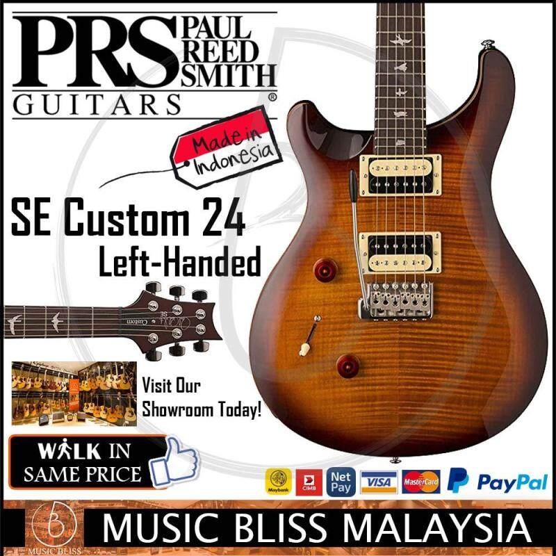 PRS SE Custom 24 Left-Handed Electric Guitar with Bag - Sunburst (Made in Indonesia) Malaysia