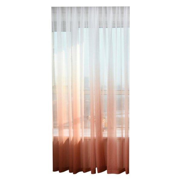 Gradient Color Tulle Sheer Cửa Sổ Màn Hình Rèm Drape Khăn Sheer