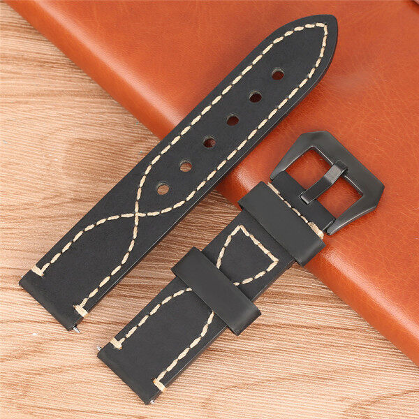 AIKEN 20/22/24/26mm Leather Band Watch Strap Replacement Bracalet Belt Spring Bars Malaysia