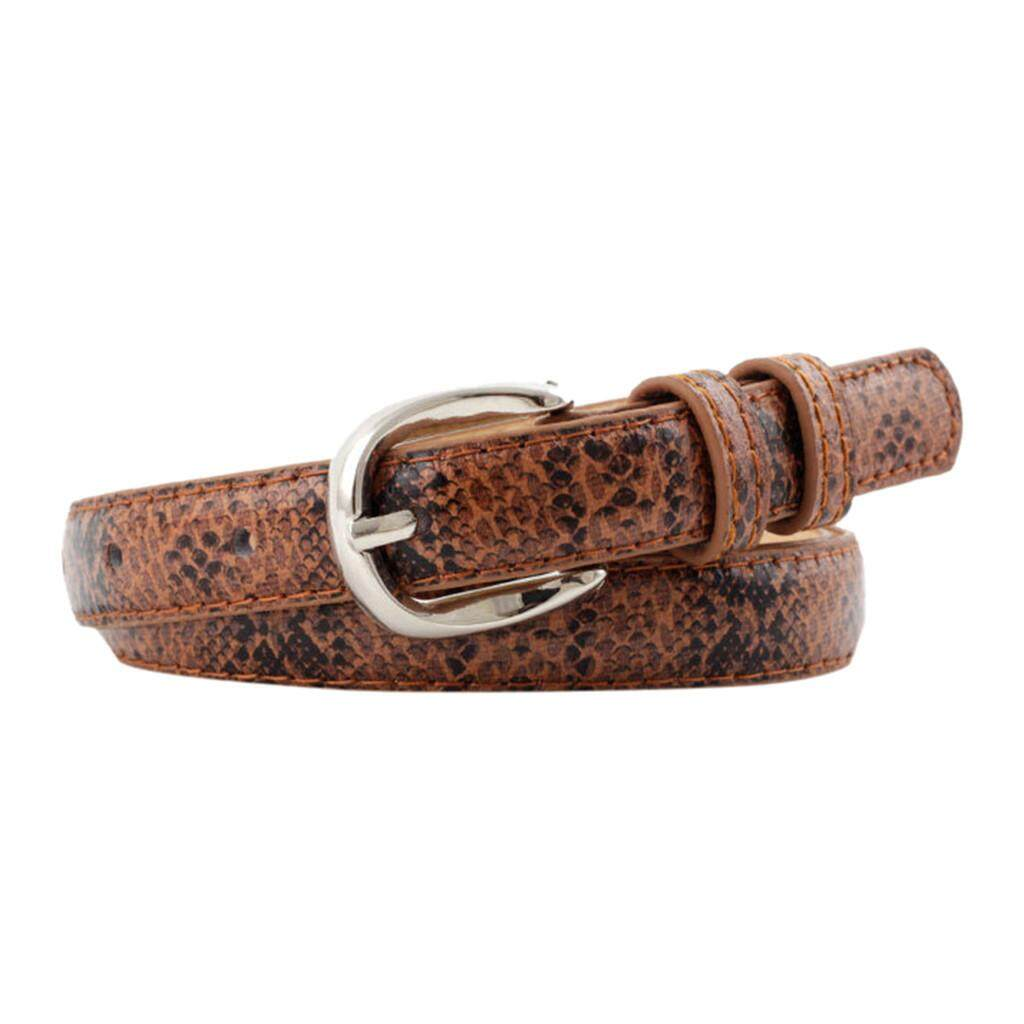 [Suolede] Women Man Unisex Vintage Leather Snake Buckle Leisure Belt Trouser Accessories