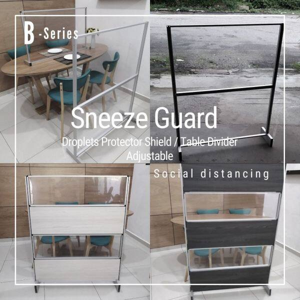 Liveplus B Series -Sneeze Guard Floor Divider/Barrier Protector Shield Divider Partition/Screen for Social Distancing Restaurant Office Retail Counter School Canteen