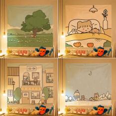 Bestenrose Thảm Ins Bắc Âu Vải Treo Tường Nền Phòng Kỹ Thuật Số In Trang Trí Phòng Ngủ