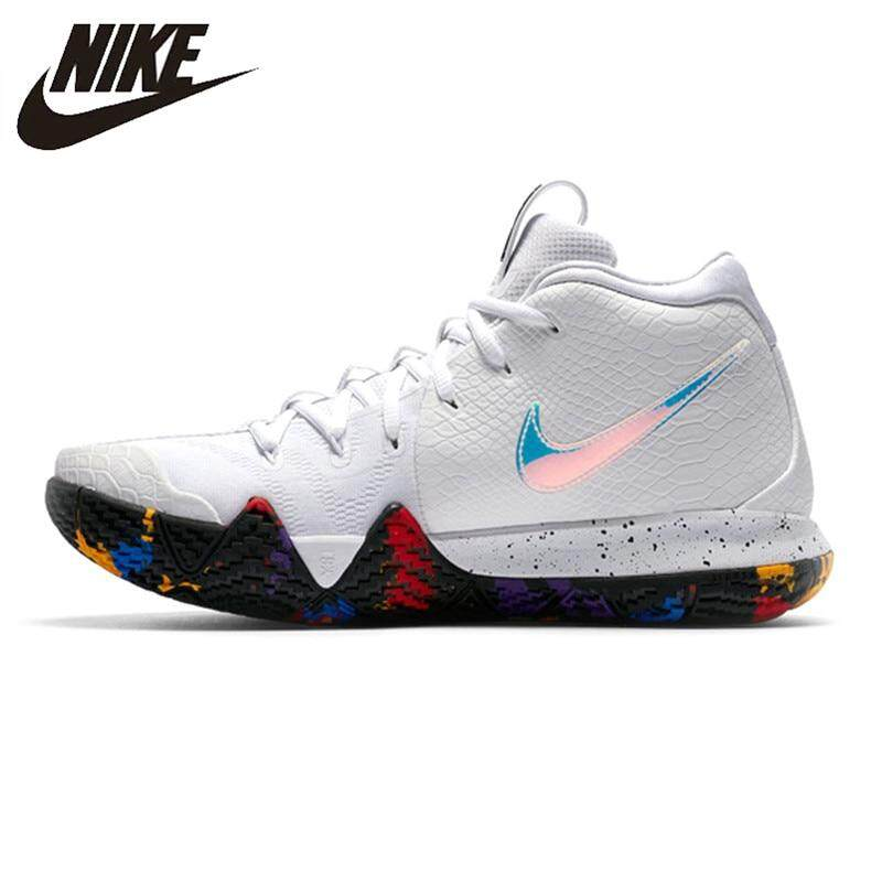 _Nike _Kyrie 4 classic EP Irving 4th Generation Men's Basketball Shoes, White, Breathable, Non-Slip, Abrasion Resistant sports shoes Good quality new