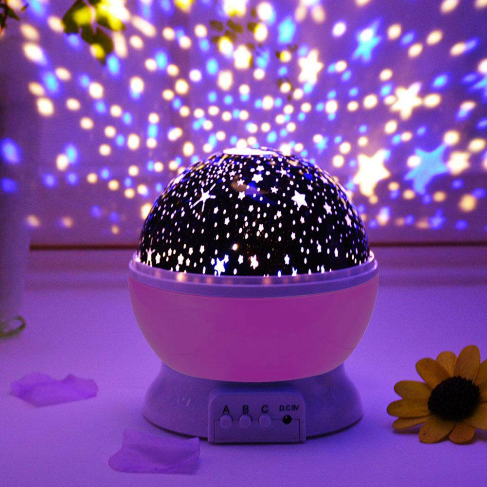 GUO Upgraded baby night light with music star projector childrens romantic rotating table lamp multiple colors for indoor party festival, etc.